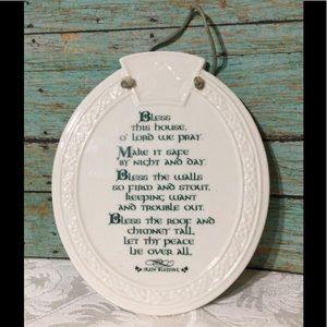 "🦋New Listing🦋Ceramic ""Irish Blessing"" Plaque"